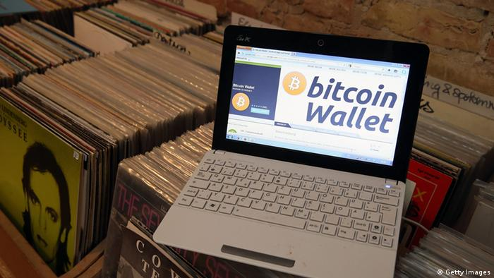computer showing a bitcoin wallet webpage Photo by Sean Gallup/Getty Images