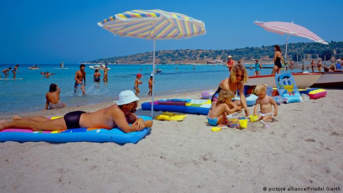 Cesme beach on the Turkish Riviera