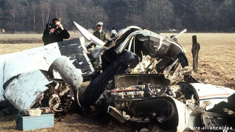 Wrecked small plane in 1982