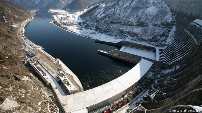 Wasserkraftwerk in Russland am Yenisei. (Foto: Alexandr Kryazhev/RIA Novosti)