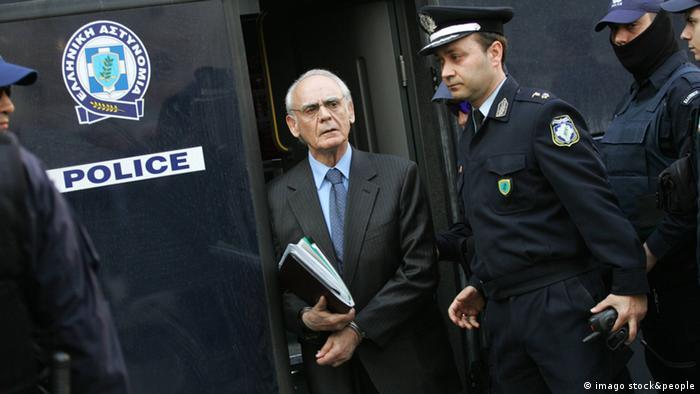 Griechenland Prozess gegen den Ex-Verteidigungsminister Tsochatzopoulos