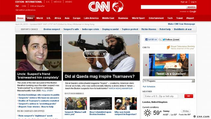 Screenshot - CNN Boston Anschläge