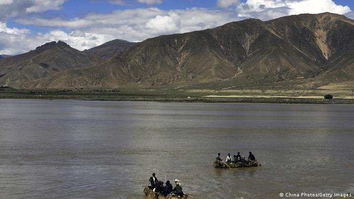 Indien China Fluss Brahmaputra