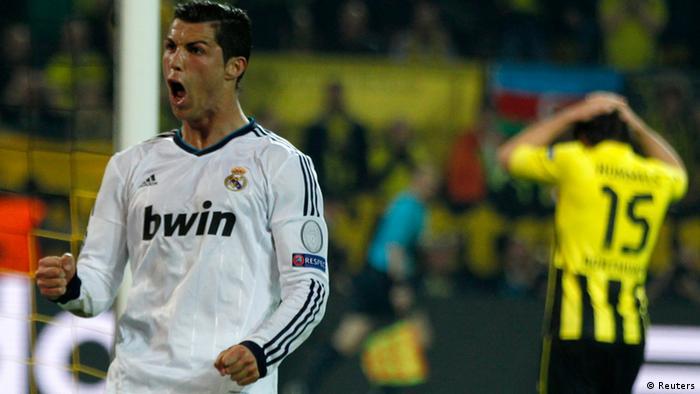 Real Madrids Cristiano Ronaldo bejubelt sein Tor. (Foto: REUTERS/Ina Fassbender)