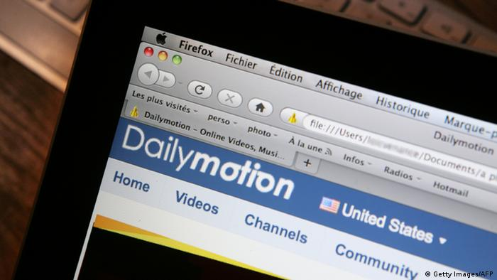 This picture taken on January 27, 2010 in Paris shows the internet homepage of the Dailymotion website. AFP PHOTO LOIC VENANCE (Photo credit should read LOIC VENANCE/AFP/Getty Images)