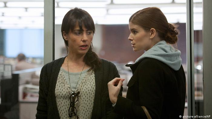 This image released by Netflix shows Constance Zimmer, left, and Kate Mara in a scene from the Netflix original series, House of Cards. The new original series arrived in one big helping _ all 13 episodes of its first season _ on the subscription streaming service on Friday, Feb. 1, 2013, for viewers to enjoy, at their leisure (Photo: Melinda Sue Gordon / AP Photo/Netflix)