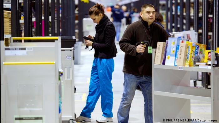 Amazon Angestellte in in Chalon-sur-Saone