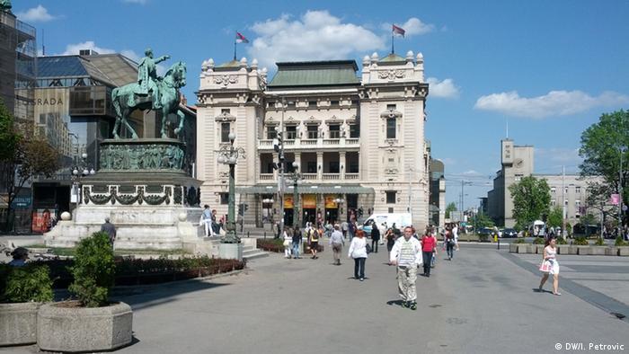Serbien Straßenszene Belgrad (DW/I. Petrovic)