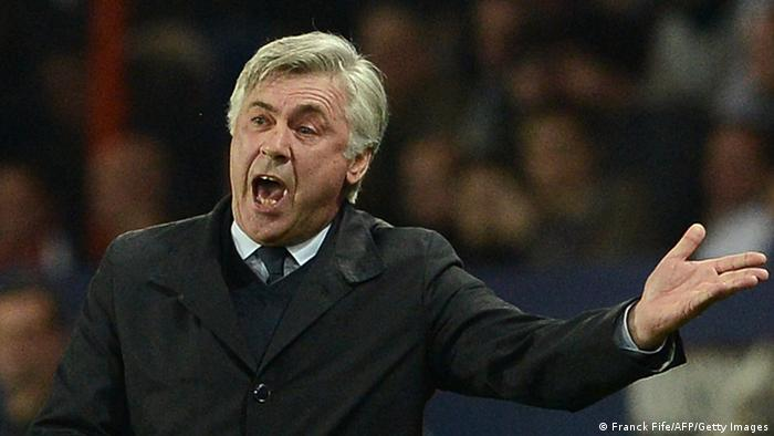Carlo Ancelotti Trainer Paris Saint-Germain