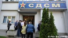 Der Hauptsitz von der oppositionellen Partei SDSM in Skopje, Mazedonien (Aufnahmedatum 25.04.2013) Bild: Petr Stojanovski