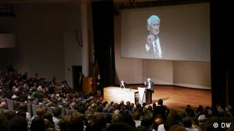 Jürgen Habermas giving a lecture at the Catholic University Leuven in Belgium in 2013, Copyright: DW
