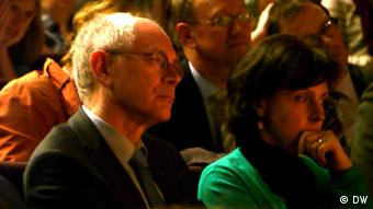 Herman Van Rompuy at the Habermas lecture at the Catholic University of Leuven Photo: Bernd Riegert, DW