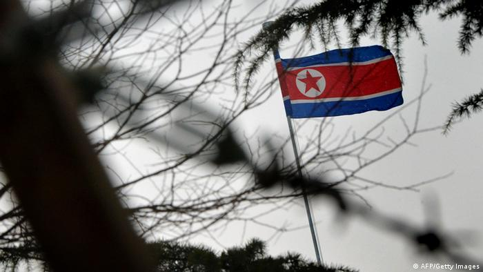 The North Korean flag flies outside their embassy in Beijing on December 12, 2012. (Photo: AFP)
