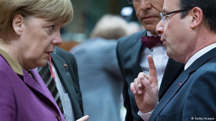 Merkel und Hollande am 15. März 2013 auf dem EU-Gipfel in Brüssel (Foto: AFP/Getty Images)