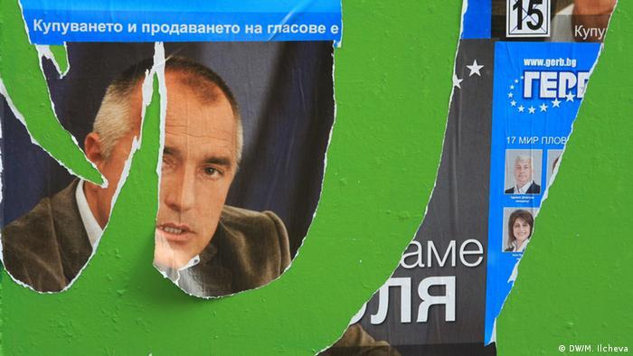 Wahlplakat der bulgarischen Regierungspartei GERB.
