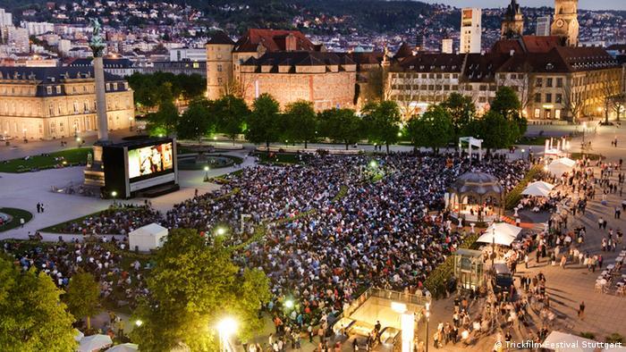 Trickfilmfestival in Stuttgart 2012 - Freiluftaufführung im Herzen der Stadt Stuttgart