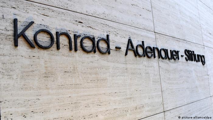 Deutschland Parteien CDU Konrad Adenauer Stiftung Gebäude in Sankt Augustin
