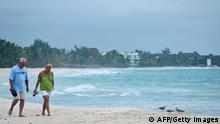 Strand in der Karibik vor einem Sturm