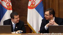Serbien Ivica Dacic und Aleksandar Vucic