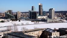 Blick auf die Skyline von Vilnius