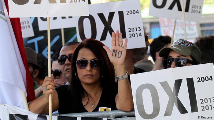 Protest in Nikosia Zyperns Parlament stimmt über Spar- und Hilfsprogramm ab (Reuters)