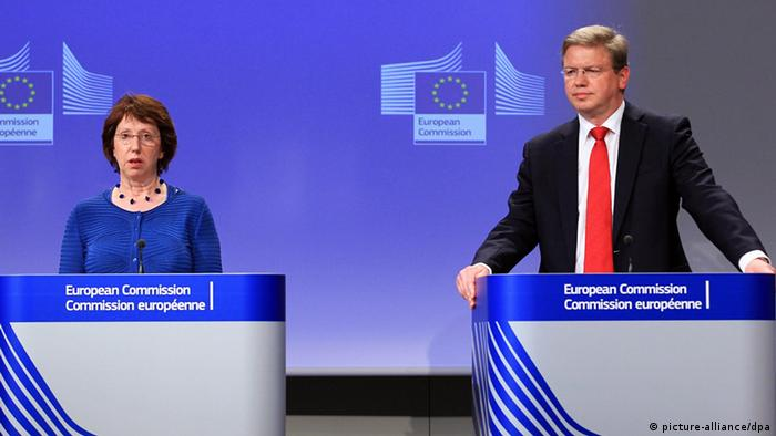 Кетрин Ештон і єврокомісар з питань розширення та європейської політики сусідства Штефан Фюле