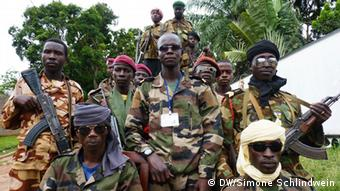 Seleka rebels Photo: DW/Simone Schlindwein, 1.5.2013, Bangui
