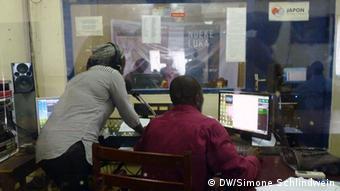 Studio Ndele Luka Radiostation Bild: DW/Simone ,Bangui