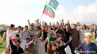 Khan's supporters in Swat Pakistan