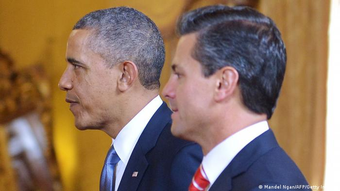US President Barack Obama (L) and Mexican President Enrique Pena Nieto (Photo: MANDEL NGAN/AFP/Getty Images)