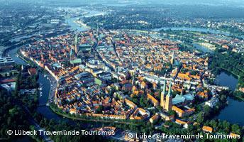 Luftbild Lübecker Altstadt (Foto: dpa)