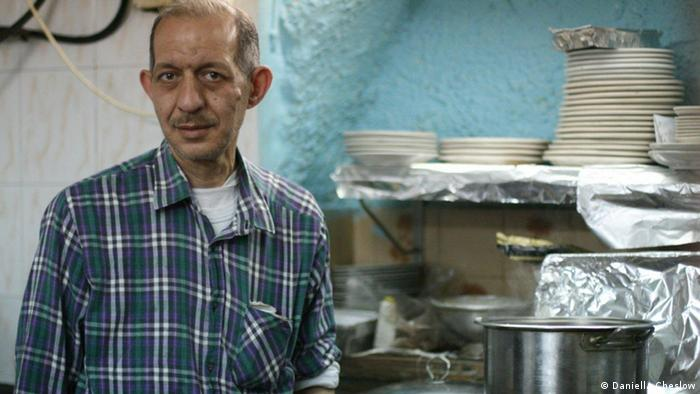 Fareed Harroubi, owner of Kosta's Restaurant, Old City, Israel in April 2013 (Foto: Daniella Cheslow)