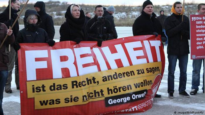 NPD-Demonstration in Warnemünde 2012