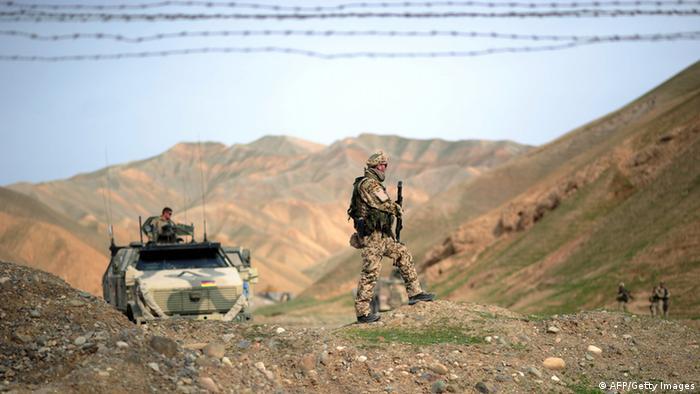 Bundeswehrpatrouille in der Provinz Baghlan. (Foto: JOHANNES EISELE/AFP/Getty Images)
