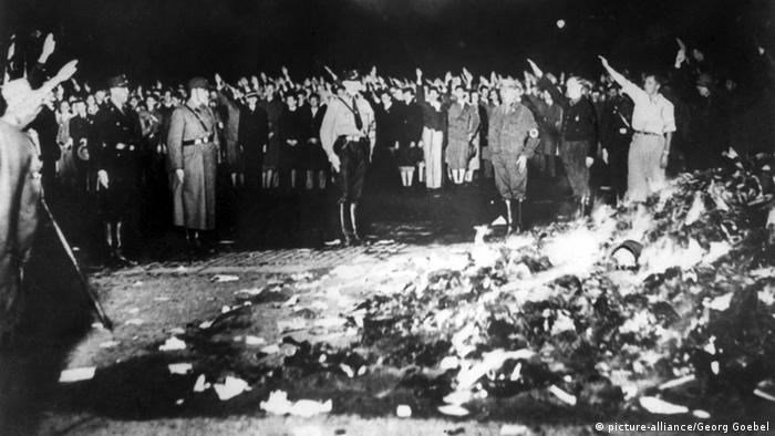 Nazi book burning on May 10, 1933