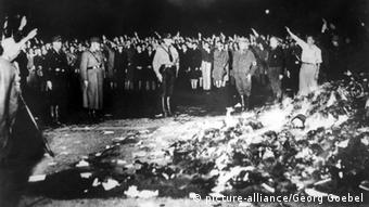 Book burning event in the the Third Reich