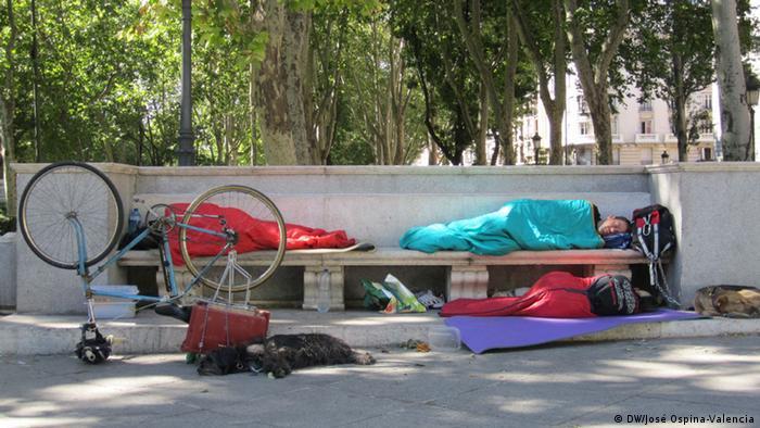 جوانان بیکار و بیخانمان در مادرید اسپانیا