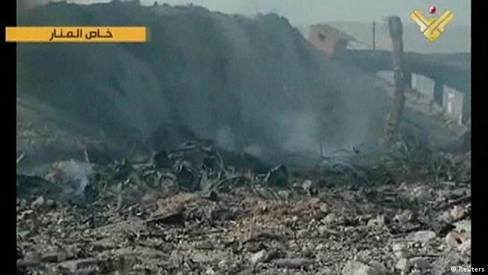 In this still image taken from video footage by Lebanon's Al Manar TV, affiliated with Hezbollah, smoke rises from what is purportedly an ammunition depot following an air strike in Dimas (Photo: REUTERS/Al Manar TV)