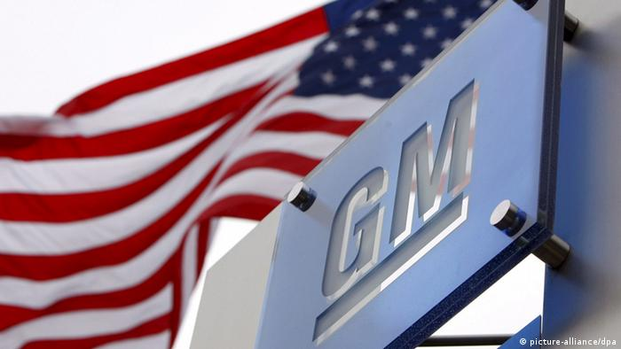 General Motors logo with US flag