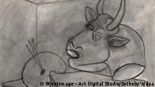 Picasso Gemälde Palette und Stierkopf
