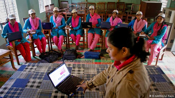 Infoladies during training (Photo: D.net/Amirul Rajiv)
