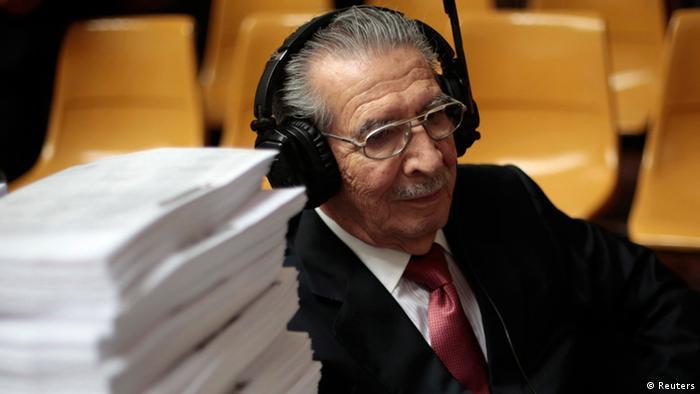 Former Guatemalan dictator Efrain Rios Montt. Photo: REUTERS/Jorge Dan Lopez.