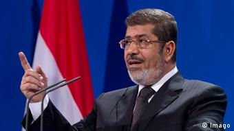 Mohmmed Morsi speaking during a visit to berlin Copyright: imago/Sven Simon