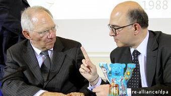 Treffen der Finanzminister Wolfgang Schäuble und Pierre Moscovici