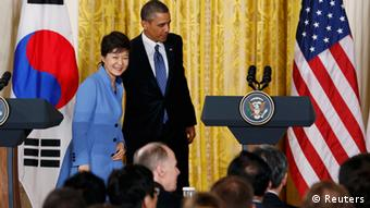 Park and Obama in the White House