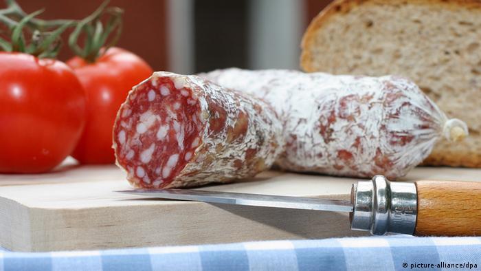 Salami Brot Messer Tomate NEU