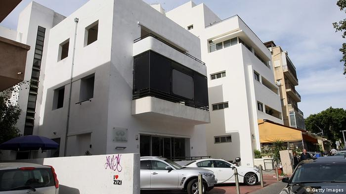 A picture of a Bauhaus-style building in Tel Aviv, on February 22, 2010. Tel Aviv is named the White City for its collection of over 4,000 Bauhaus or international style buildings built starting in the 1930s by German-Jewish architects who immigrated to the British Mandate of Palestine after the rise of the Nazis. Tel Aviv has the largest number of buildings in this style of any city in the world. Of the original 4,000 Bauhaus buildings built, some have been refurbished and at least 1,500 more are slated for preservation and restoration. AFP PHOTO/JACK GUEZ (Photo credit should read JACK GUEZ/AFP/Getty Images).