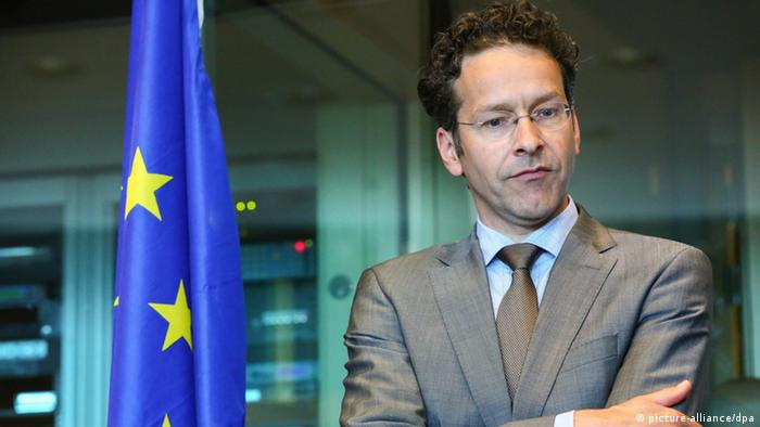Jeroen Dijsselbloem, the President of the Eurogroup and Minister of Finance of the Netherlands, awaits the start of a Committee on Economic and Monetary Affairs meeting at the European Parliament in Brussels, Belgium, 07 May 2013. The Committee on Economic and Monetary Affairs is held on the Financial assistance for Cyprus. EPA/JULIEN WARNAND +++(c) dpa - Bildfunk+++