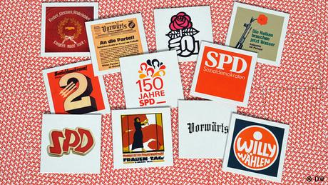 Memory cards from 150 years of SPD history Copyright: Per Henriksen/DW