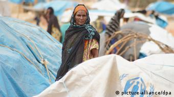 A Malian woman in a refugee camp